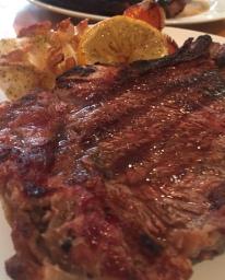 Keto Ribeye Steak and Lemon Garlic Lobster Tail